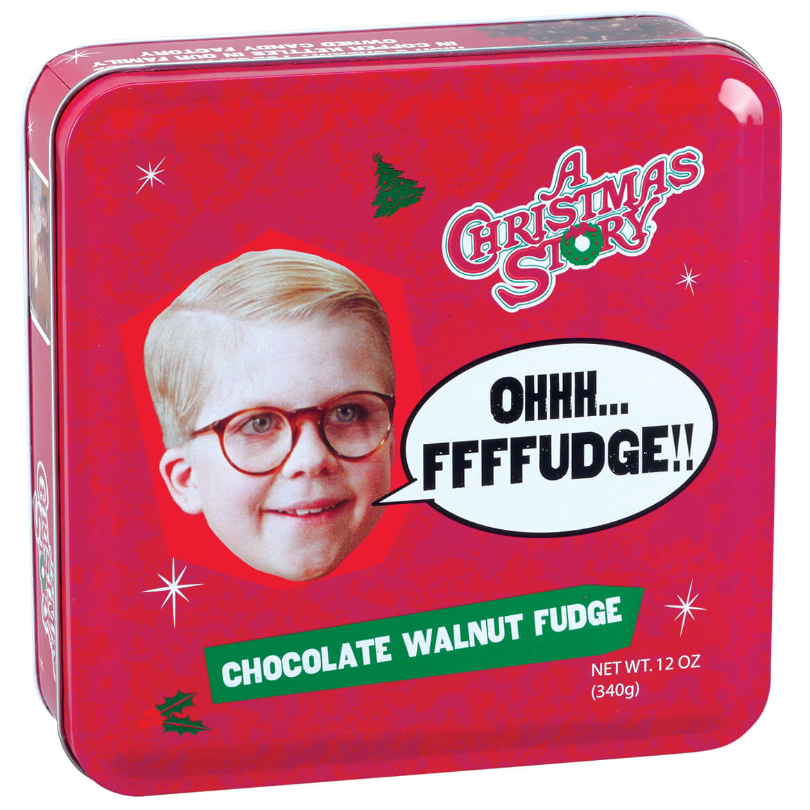 A Christmas Story Fudge Tin, Chocolate Walnut, 12oz.-368945