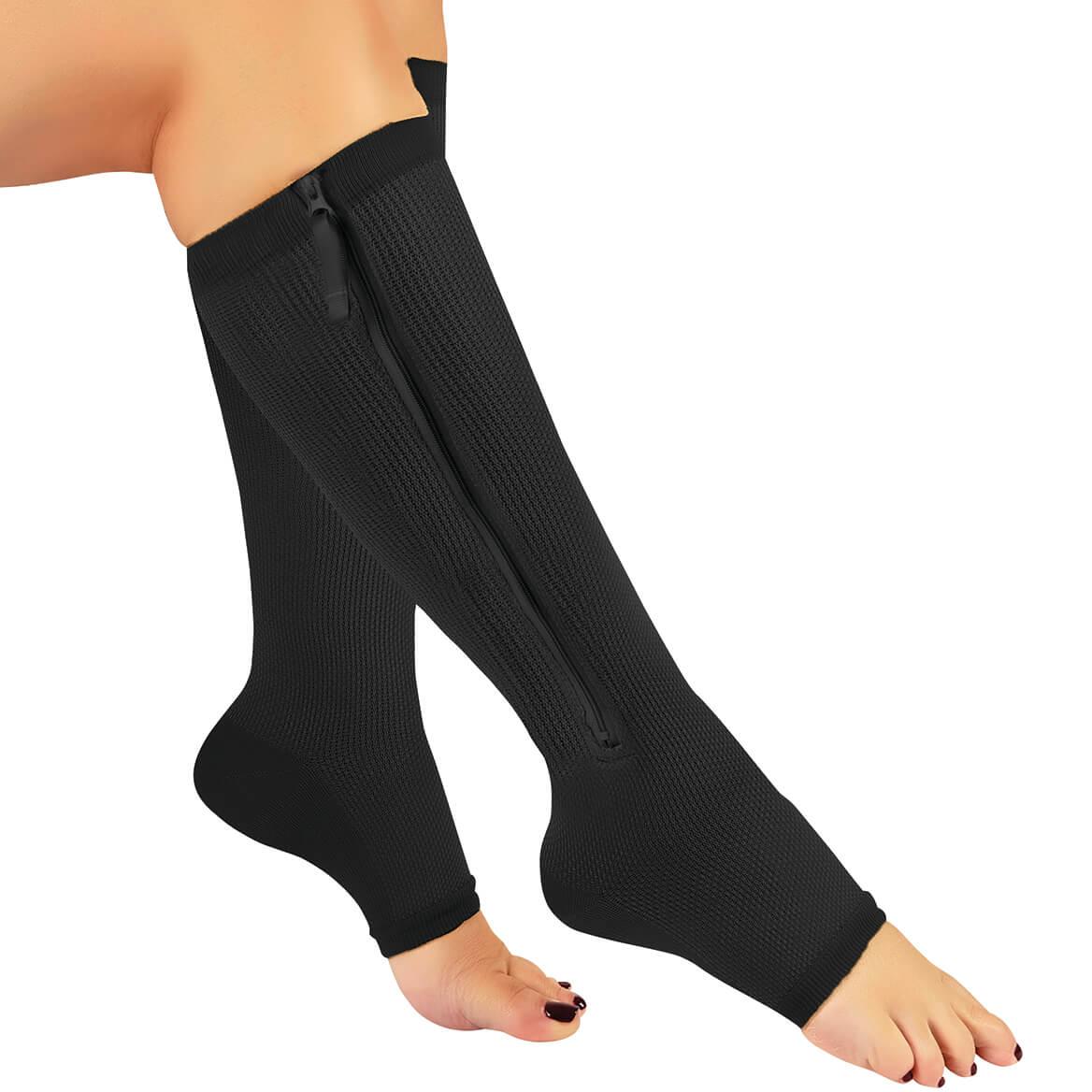 Zip-Zap HempTastic™ Open Toe Compression Socks, 20-30mmHg-369548