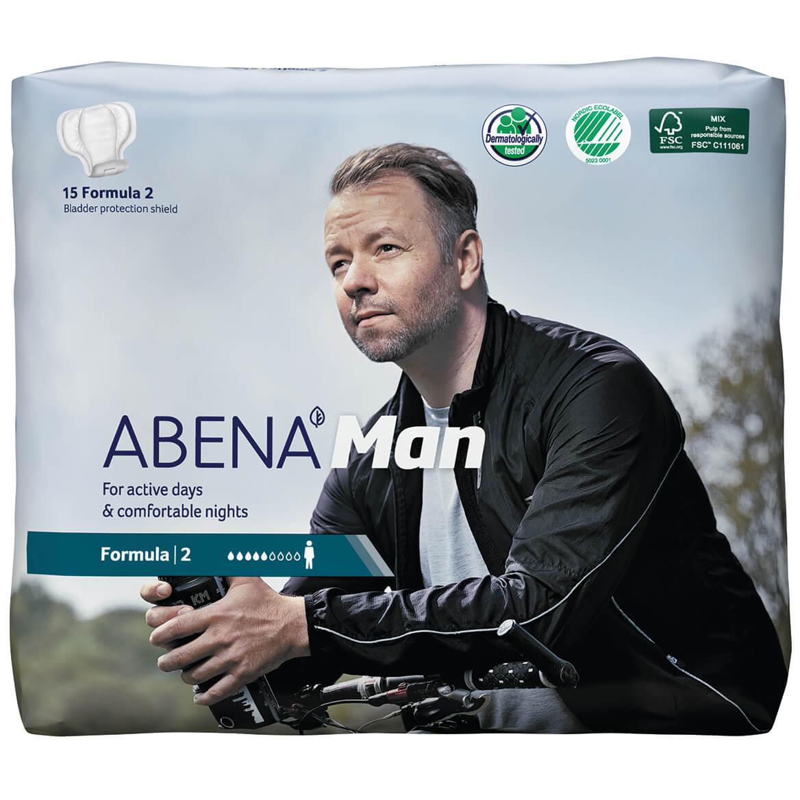 ABENA® Man Bladder Protection Shields, Case of 180-371376