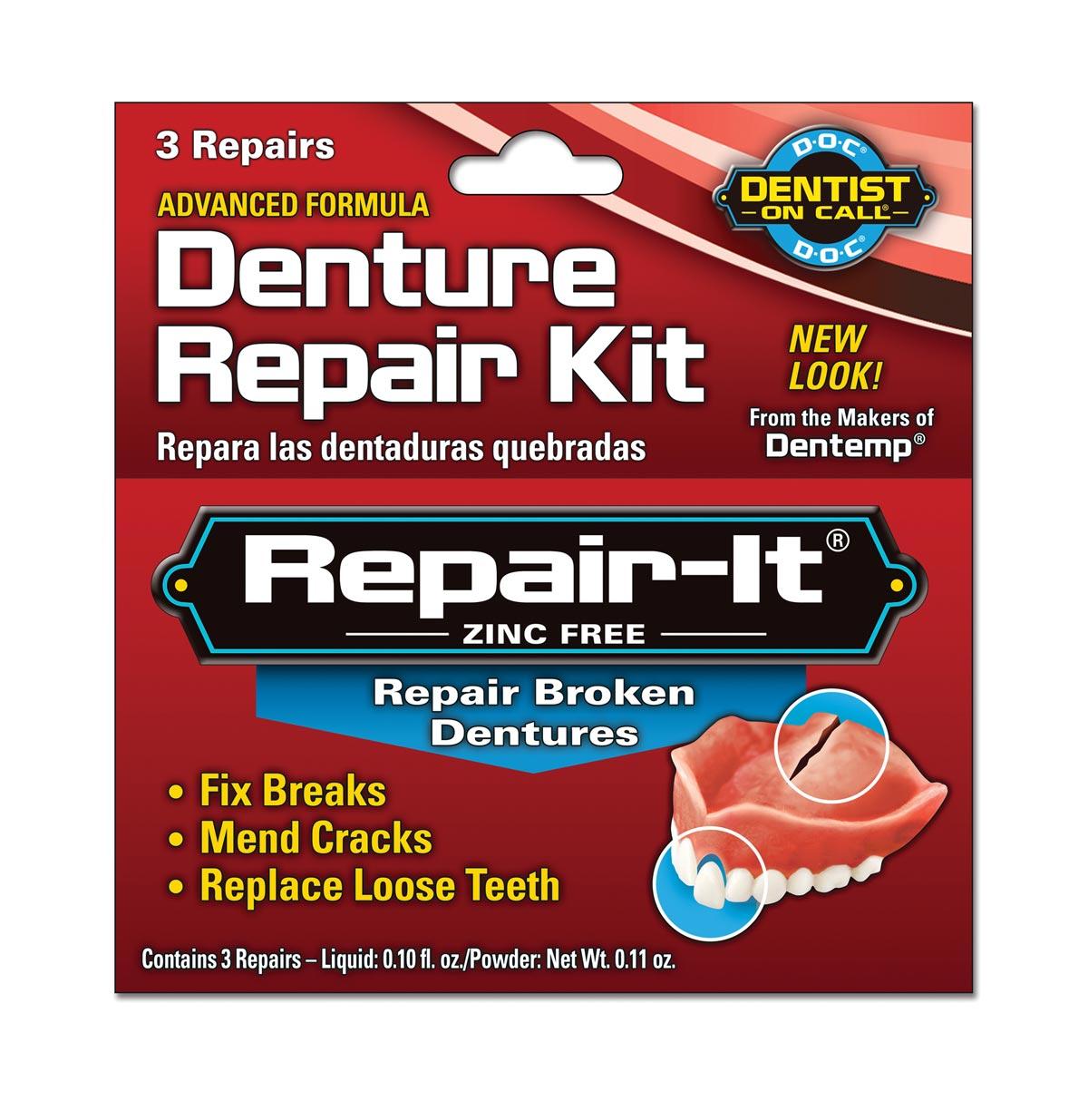 Repair-It Denture Repairs, 3 Repairs